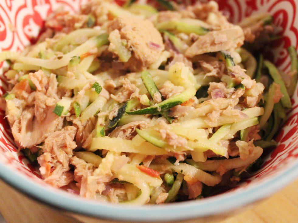 Courgetti met tonijn